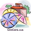 Vector Clipart graphic  of a Chinese umbrellas