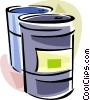 Barrels Vector Clip Art graphic