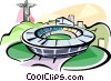 Vector Clip Art picture  of a Brazil Maracana stadium Rio de