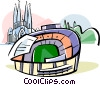 Vector Clip Art image  of a Spain Nou Camp stadium