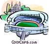 Spain Bernabeu stadium Madrid Vector Clip Art picture
