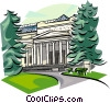 Vector Clip Art image  of a Russia Pushkin Museum of Fine Arts