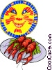 Swedish crayfish party Vector Clipart picture