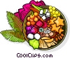 Thai dessert Vector Clipart illustration
