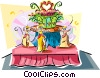 Vector Clipart graphic  of a Brazilian carnival