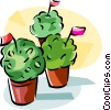 Portugal Manjerico plant Vector Clipart illustration