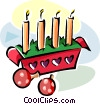 Swedish Advent candles Vector Clip Art picture