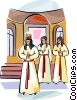 Swedish Sankta Lucia girls Vector Clip Art picture