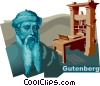 Vector Clip Art graphic  of a Johannes Gensfleisch zur Laden