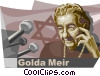 Vector Clip Art graphic  of a Golda Meir Founder of the