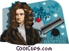 Vector Clipart picture  of a Sir Isaac Newton