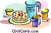 Vector Clip Art image  of a Hebrew Shavuot food