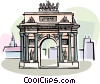 Vector Clip Art graphic  of a Kursk Russia Triumph Arch