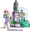 Vector Clip Art picture  of a Monument to Aleksandr Pushkin