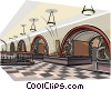 Vector Clip Art image  of a Moscow Subway - Ploschad