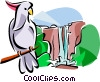 Australian Kakadu National Park Vector Clipart illustration