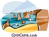 Vector Clip Art image  of an Australia Port Campbell