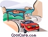 Vector Clip Art graphic  of an Australia Great Ocean Road