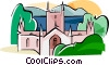 Port Arthur Convict-built cathedral Vector Clip Art picture