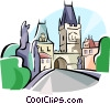 Vector Clip Art graphic  of a Czech Republic Prague