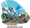 Gro�glockner mountain Austria Vector Clipart picture