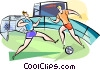 Soccer in Portugal Vector Clip Art image