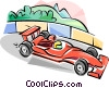 Formula One racing Vector Clipart picture