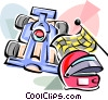 Vector Clipart graphic  of a Formula One racing