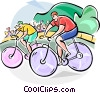 Bicycle Racing Vector Clipart graphic