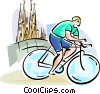 Vector Clipart illustration  of a Bicycle Racing
