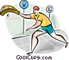 Fronton Players (Basque Country) Vector Clipart image