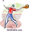Vector Clipart picture  of a Fronton Players (Basque