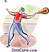 Vector Clip Art graphic  of a Fronton Players (Basque