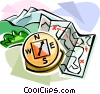 Vector Clipart graphic  of a Orienteering