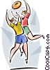 Australian Rules Football (AFL) Vector Clip Art picture