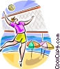 Brazilian beach volleyball Vector Clipart graphic