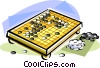 Vector Clipart picture  of a Chinese go game