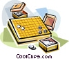 Chinese go game Vector Clipart picture