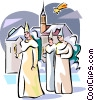 Vector Clip Art graphic  of a Swedish Sankta Lucia boys