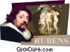 Vector Clipart illustration  of a Peter Paul Rubens