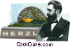 Theodor Herzl founder of modern Zionism Vector Clipart image