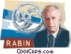 Vector Clip Art picture  of a Yitzhak Rabin