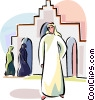 Vector Clip Art picture  of an Arabic people