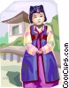 Korean birthday dress Vector Clipart picture
