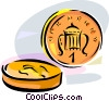 Vector Clip Art graphic  of a United Kingdom 1 Penny Coin