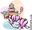 Vector Clipart graphic  of a Chinese yulan magnolia flower