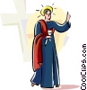 Vector Clip Art picture  of a Portugal Religious Holiday