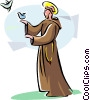 Portugal Religious Holiday S�o Ant�nio St. Anthony Vector Clip Art graphic