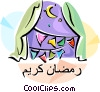Ramadan Mubarak Greeting Vector Clip Art picture