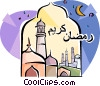 Vector Clip Art graphic  of a Ramadan Greeting